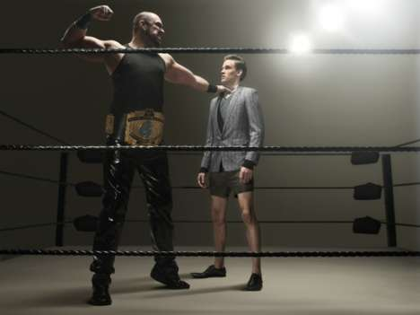 Fighting Fashion Shoots - 'The Wrestler' Esquire Magazine Spread by Phillip Toledano