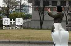 The Dragging Dress Suitcase Ensures You'll Leave Nothing Behind