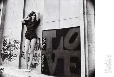 Graffitied Pictorials - The 'Corto' Amica Italy Spread is Sprayed with Class