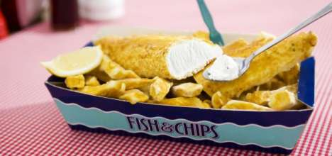 fish and chips ice cream