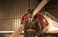 Fighter Pilot Photoshoots - Ali Larrey's 'The Aviator' is Red Baron Badassness