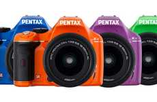 Color-Popping Cameras - The Pentax K-x DSLR Comes in a Plethora of Neon Hues