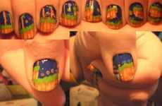 Craftster Nail Art by HolyPunsBatman is Nerdy, But Amazing