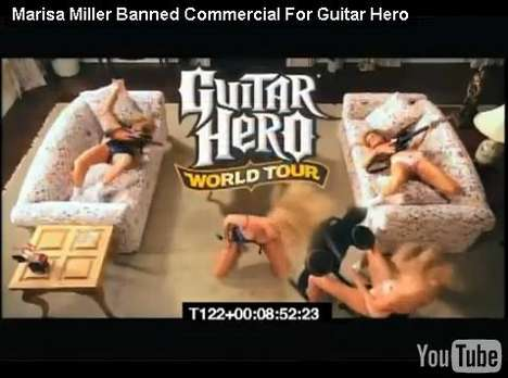 marisa miller guitar hero ad