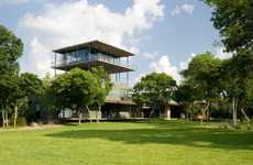 Watchtower Homes - House on Cedar Hill by Cunningham Architects is All About Height