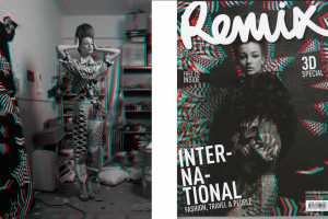 Remix Magazine and Garth Badger Team Up for 3D Fashion Shoots