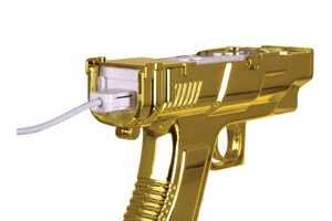 The Gold Edition Sharpshot Controller for Wii Celebrates 'Goldeneye'