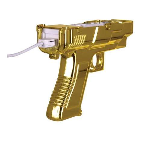 James Bond Wiimotes - The Gold Edition Sharpshot Controller for Wii Celebrates