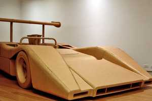 Chris Gilmous Adds to his Amazing Cardboard Art with the McLaren M8B Replica
