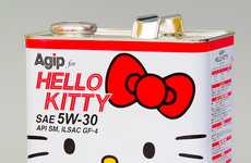 The Agip for Hello Kitty Engine Oil Adds Cuteness to Your Car Motor