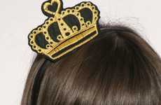 Royalty Head Pieces - The Fabric Crown Hairband Will Boost Your Social Class