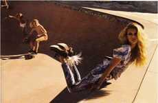 Skate Park Fashion Shoots - Keke Lindgard Vogue Germany Editorial Fuses Couture & Skaters