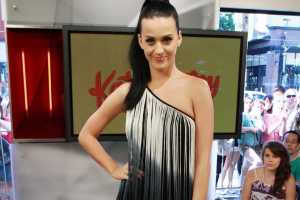 Katy Perry Live eTalk Interview Dress Blends Flapper & Grecian Fashions