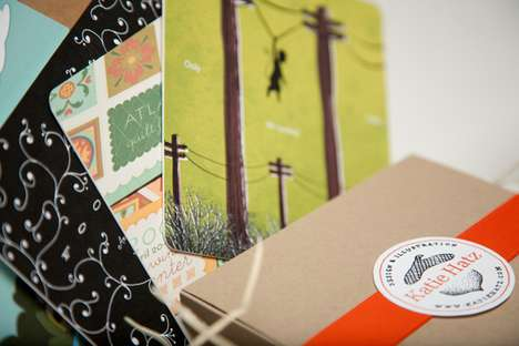 Personal Portfolio Nests - 'I Made This for You' by Katie Hatz is a Self-Promotional Present