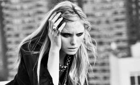 Distressed Cat-Eye Photography - The Chloe Callahan Spread by Lucy Carr-Ellison has a Dark Edge