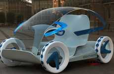 Transparent Eco Cars - The 'Element' Concept Car Clears Up Traffic