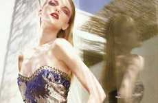 Shimmering Summer Fashions - The Glamorous Vlada Roslyakova in Vogue Portugal July 2010