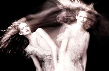 Ghostly Twin Fashions - The Katrin Thormann Vogue Germany July 2010 Shoot is Eerily Gorgeous