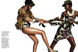 The Vogue Russia July 2010 Spread is Not a Cat Fight to Miss