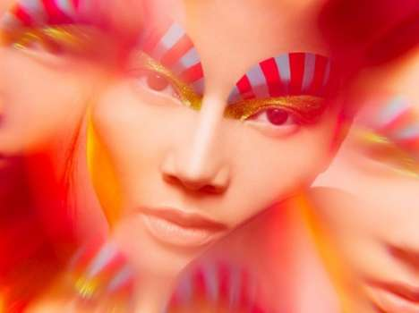 Candy Cane Eyebrows - Photographer Indira Cesarine Captures Colors Perfectly