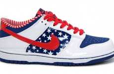 Patriotic Street Sneaks - The Nike Dunk Independence Day Kicks are Made for Young Patriots