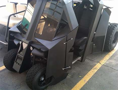 Batman Golf Carts - This DIY Vehicle Would Grab Tiger Woods' Attention