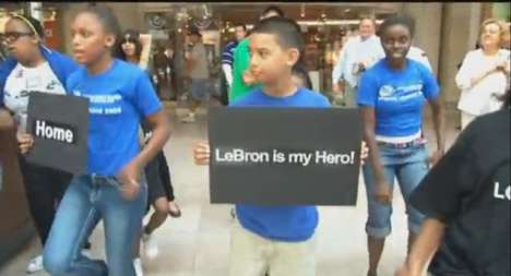LeBron James flash mob