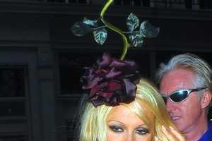 The Pamela Anderson Rose Hat Honors Royal Ascot Festivities