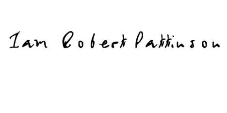 robert pattinson font