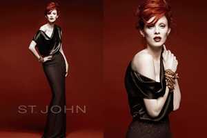 Karen Elson for St. John Fall/Winter 2010 Proves Red is Never Dead