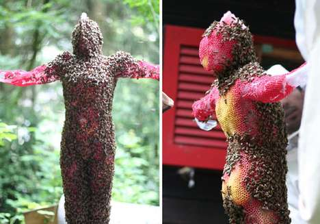 Jesus Statue Made by Bees