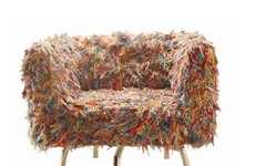 Woolly Mammoth Seating - The Giramundo Swivel Yarn Chair is Artistically Colorful