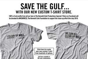 Kenneth Cole Cleans Up Well With These Oil Spill Fighting Tees