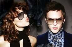 Bird-Brained Editorials - The Tom Ford Fall Eyewear Collection Features a Bird Attack