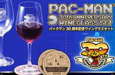 Gamer Wine Glasses - The Pac-Man Wineglass Set Celebrates 30 Years of the Classic Arcade Game