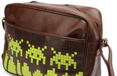Retro Gamer Satchels - The Space Invaders Messenger Bag is Hipster Geek Chic