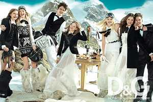 The D&G Fall/Winter 2010 Campaign Goes on a Ski Trip
