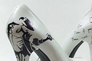 Oyee Design Heels Feature Michael Jackson's Image & Lyrics
