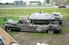 Wooden Funeral Cadillacs - The Funeral Cars of Argentina Were Created by One Talented Dude