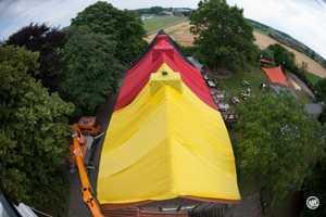 Hans Schaluck Wraps an Entire Building in the German Flag