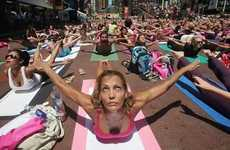 Street Yoga Parties - The Times Square Yoga Marathon had 1000 Able Bodies Working it out Outdoors