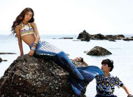 Mermaid Puppy Love - The Vogue Girl Korea July 2010 Spread is Mystical