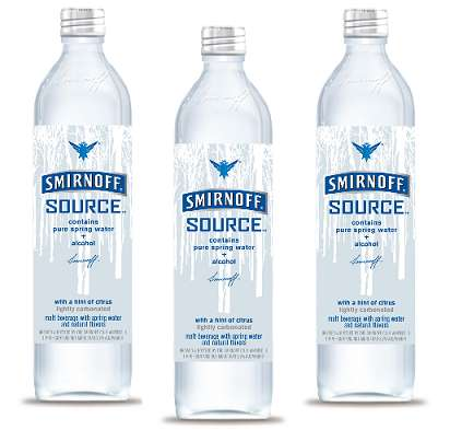 Spring Water + Alcohol = Smirnoff Source Looks Like a Bottle of Water