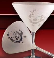 Sip In Style - Marilyn Martini Glass With Swarovski Mole