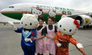Hello Kitty Airbus - Eva Air Proves Japanese Anime Continues To Rise