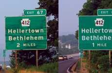 New Font On Roadsigns