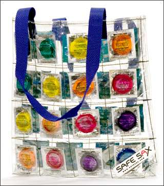 Condom-Inspired Handbags - SafeSax For AIDS Awareness
