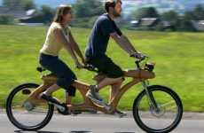 Two-Man Wooden Bikes