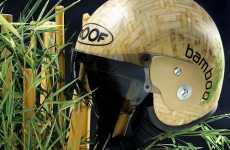 Bamboo Motorcycle Helmet