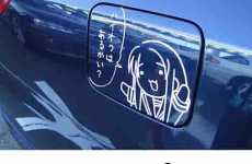 Japanese Cartoons On Fuel Door